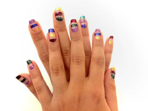 Carnaval 2016: veja como fazer unhas inspiradas nas cores da Globeleza (Foto: EGO)