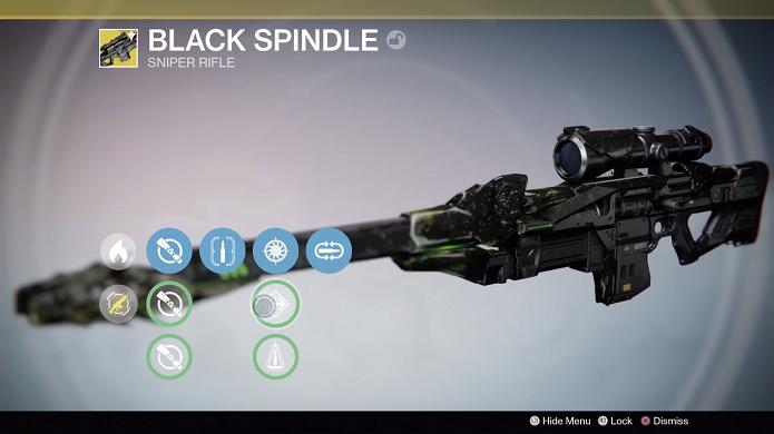 Esta é a arma exótica escondida na nova DLC (Foto: Reprodução/Thiago Barros)