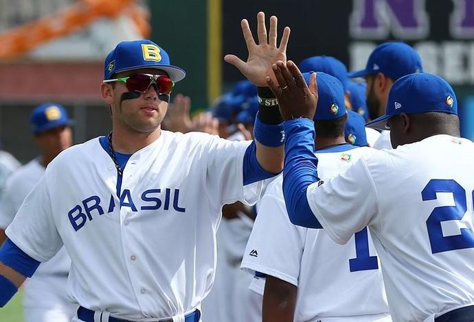 Equipe do Brasil de Beisebol em ação no World Baseball Classic (Foto: Divulgação / WBC)