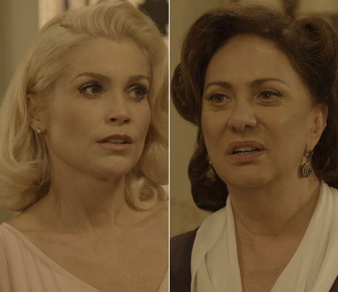 Preocupada, Sandra pede que Anastácia não chame a polícia.  (Foto: TV Globo)