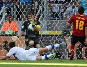 Casillas, Espanha x Itália (Foto: AP)