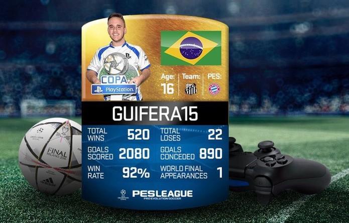 GuiFera15, finalista  (Foto: Divulgação/PES Brasil)