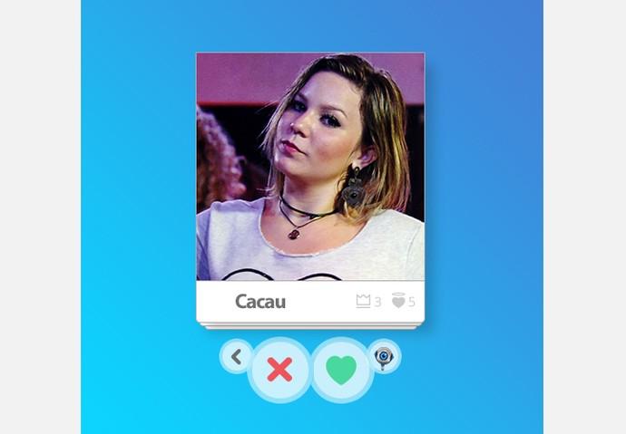App_Cacau (Foto: Big Brother Brasil / Gshow)