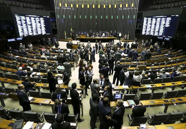 Plenário da Câmara vota denúncia contra Temer (Foto: Marcelo Camargo/Agência Brasil)