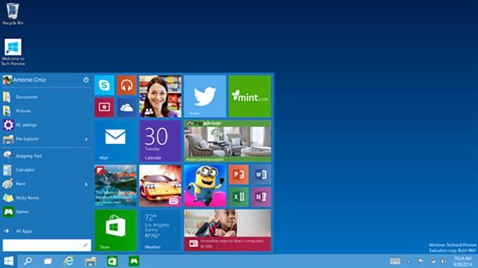 Menu Iniciar voltou integrado às janelas animadas do Windows 8 (Foto: Divulgação)