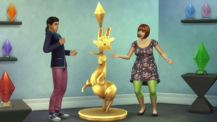 Jogadores de The Sims 3 receberão luminárias em The Sims 4, ou uma estátua se tiverem todas as expansões do jogo (Foto: GameZone)