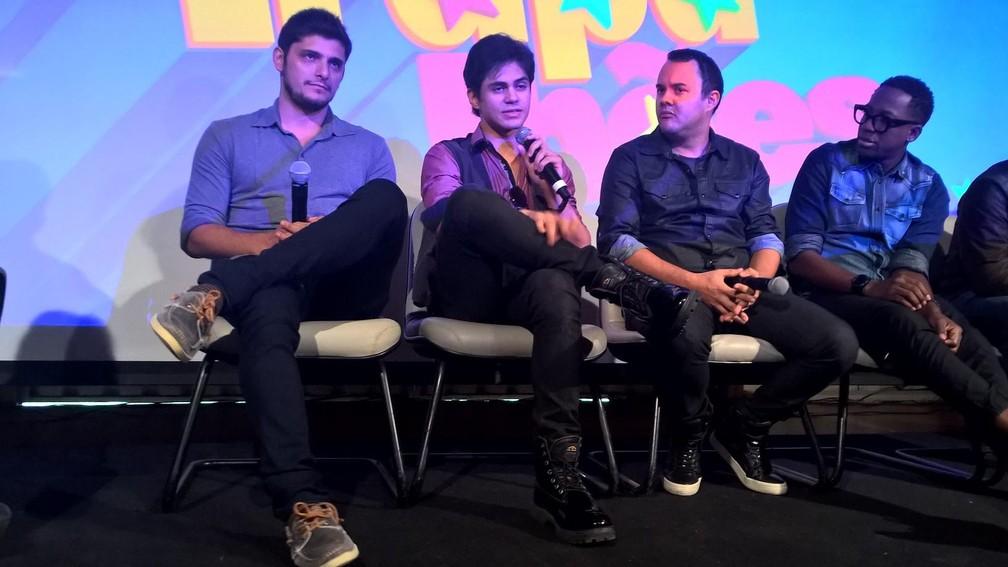 Bruno Gissoni, Lucas Veloso, Gui Santana e Mumuzinho - os novos trapalhões. (Foto: Carlos Brito)