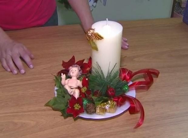 Veja como fazer um lindo enfeite de mesa para o Natal (Foto: Divulgação/RPC)