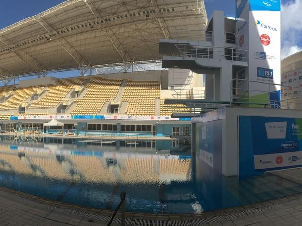Parque Olímpico Maria Lenk é vistoriado no Rio (Foto: Fernanda Rouvenat/G1)