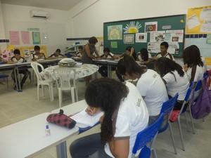 Sala de aula onde é desenvolvido o projeto Alumbrar (Foto: Divulgação/Maria José Figueiredo)