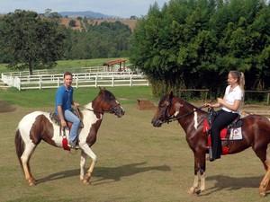 Passeios em passeio de cavalo em Morungaba (SP) (Foto: Matheus Filippi / G1 Campinas)