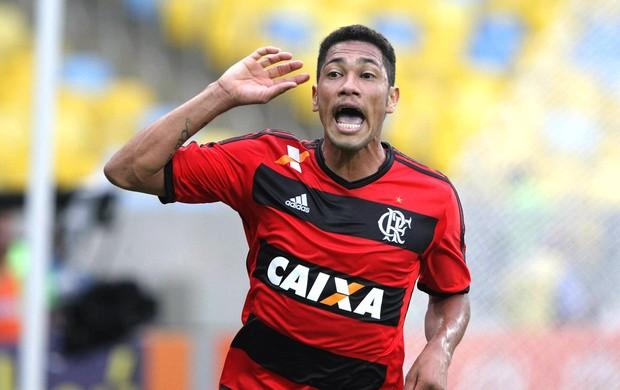 Hernane gol jogo Flamengo e Criciúma (Foto: Nina Lima / Agência O Globo)