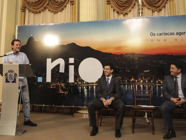 """Eduardo Paes lançou dominio """".rio"""" nesta quarta-feira (16) (Foto: Raphael Lima/Prefeitura do Rio)"""