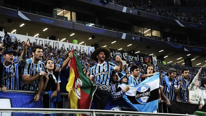 gremio x santos torcida arena gremio (Foto: Marcos Ribolli/GloboEsporte.com)