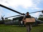 Helicópteros da FAB levam urnas para comunidades isoladas no AC