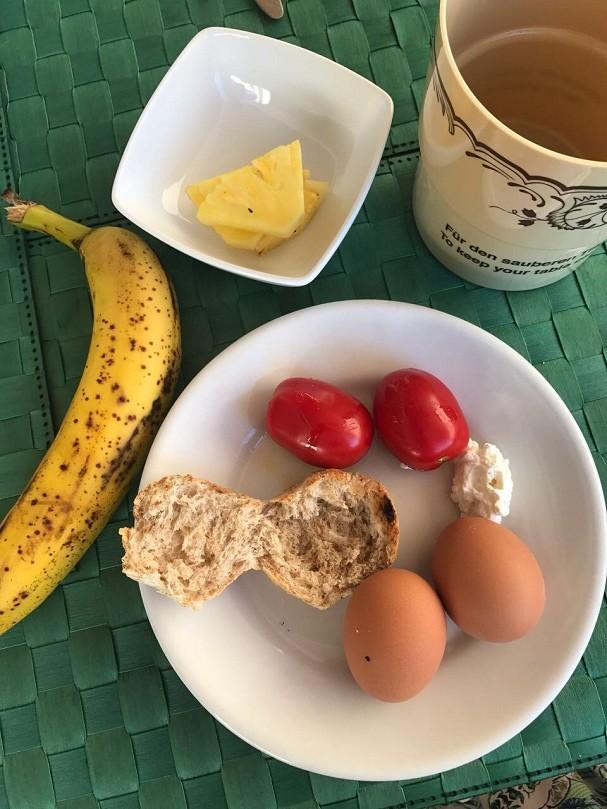 Ovos no café da manhã (Foto: Arquivo pessoal)