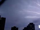 São José e Taubaté registram mil raios durante chuva nesta segunda