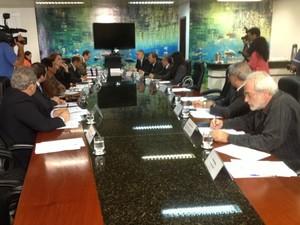 Comitê do CNJ se reúne para avaliar compra de terras em MS (Foto: Fabiano Arruda/G1 MS)