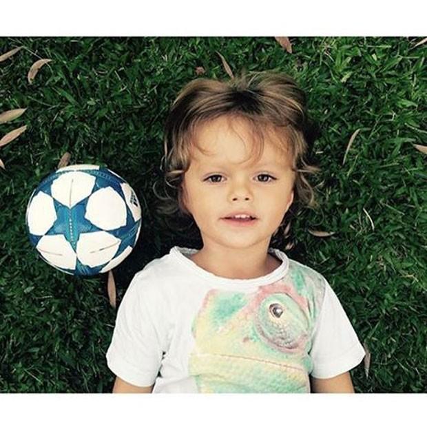 Bento, neto da apresentora Ana Maria Braga (Foto: Reprodução)