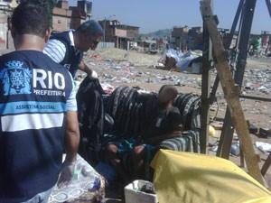 Funcionários da prefeitura recolheram 95 pessoas das cracolândias (Foto: Divulgação / SMAS)