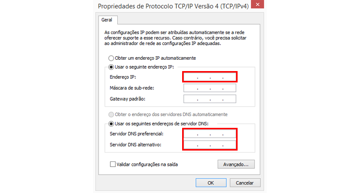 Endereços de IP devem ser diferentes em todos os dispositivos conectados (Foto: Reprodução/Windows)