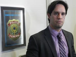 Delegado Polícia Federal Uberlândia Riacrdo Ruiz (Foto: Felipe Santos/G1)