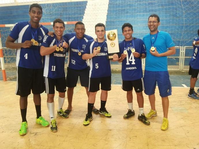 UFPI/Unidos Campeão Liga Nordeste Handebol (Foto: Reprodução/Facebook)