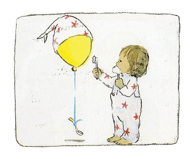 Lina e o balão, Texto e ilustrações de Komako Sakai, Pequena Zahar, R$ 49,90. A partir de 3 anos. (Foto: Reprodução)
