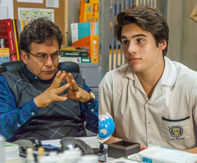 Menelau é firme e suspende Rodrigo (Foto: Artur Meninea/Gshow)