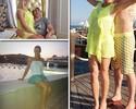 Casal 20 da Rússia, astro do hóquei e bela do tênis passam férias na Turquia