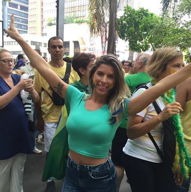 Ana Paula Minerato chama seguidores para a manifestação (Foto: Reprodução/Instagram)
