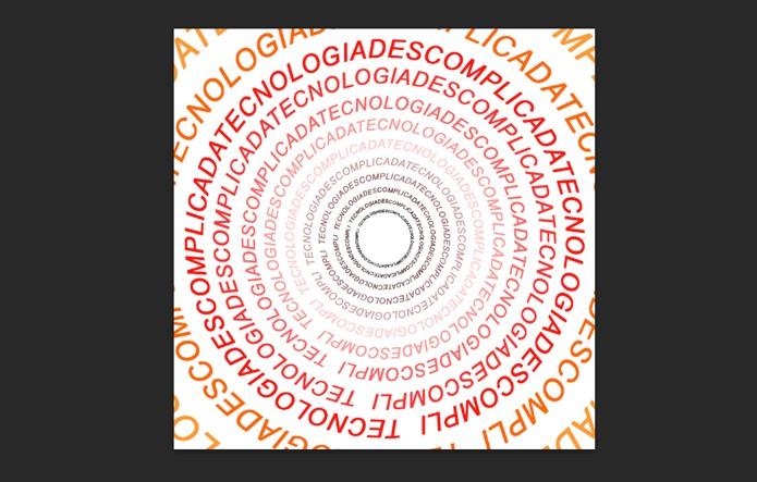 Texto em círculo (Foto: Reprodução/André Sugai)