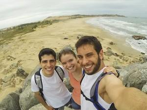 Grupo parou na Praia do Cardoso, já no Cabo Santa Marta (Foto: Igor Tiburcio/Arquivo pessoal)