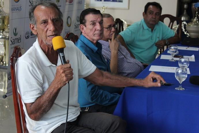 Nacional-AM anúncio de jogadores diretoria (Foto: Silvio Lima)
