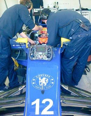 Felipe Nasr demorou para ir à pista, mas terminou com o 4º melhor tempo (Foto: Divulgação)