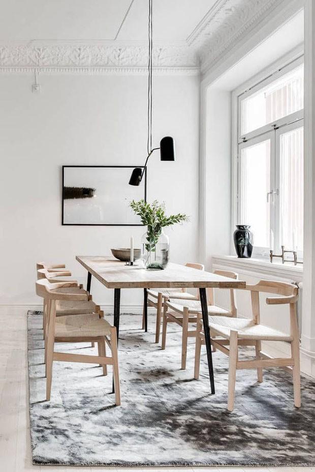 Décor do dia: sala de jantar escandinava em tons claros (Foto: Divulgação)