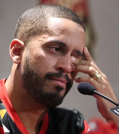 Romulo apresentação Flamengo (Foto: Gilvan de Souza/Flamengo)