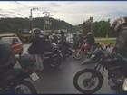 Motoboys fazem protesto por morte de colega em Itajubá, MG