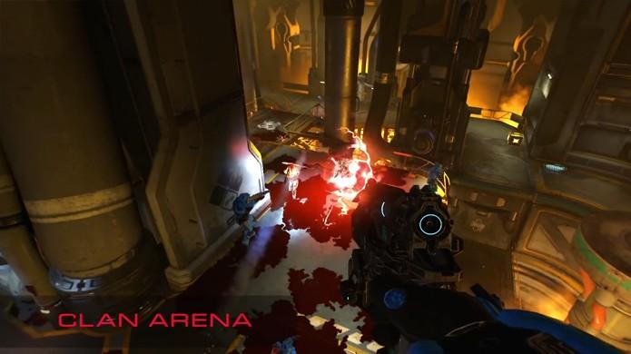 No modo Clan Arena cada jogador tem apenas uma vida e tem que mostrar que é o melhor no Doom sem a ajuda de itens (Foto: Reprodução/YouTube)