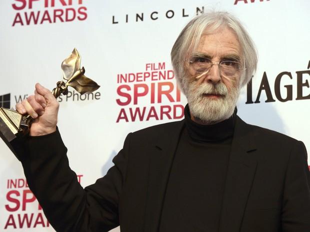 Michael Haneke ganha o prêmio por melhor filme internacional por 'Amor' (Foto: Reuters)