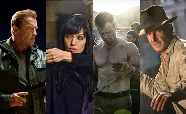 Arnold Schwarzenegger, Angelina Jolie, Matt Damon, Harrison Ford (Foto: Divulgação)