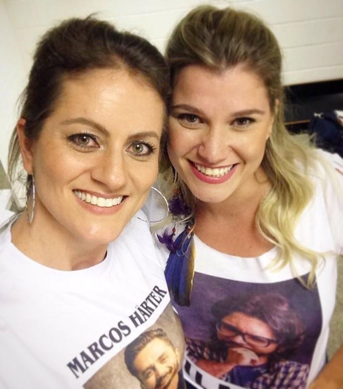 Caroline Harter, irmã de Marcos, com Kamila (Foto: (Foto: Reprodução da internet))