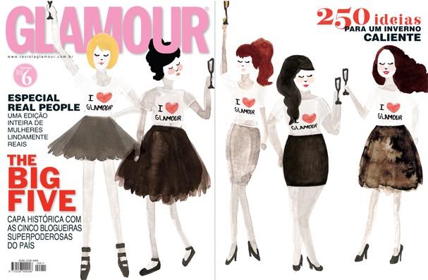 Capa folder Glamour (Foto: Ilustração: Catarina Bessel)