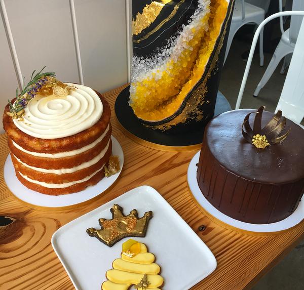 Um detalhe do bolo de aniversário de Beyoncé (Foto: Instagram)
