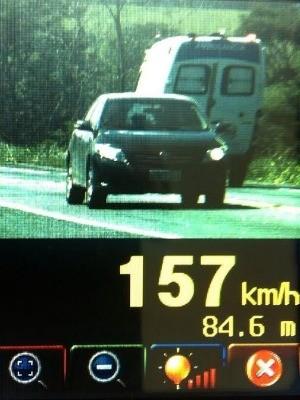 Radar falgou motorista em alta velocidade, no Espírito Santo (Foto: Divulgação/ PRF)