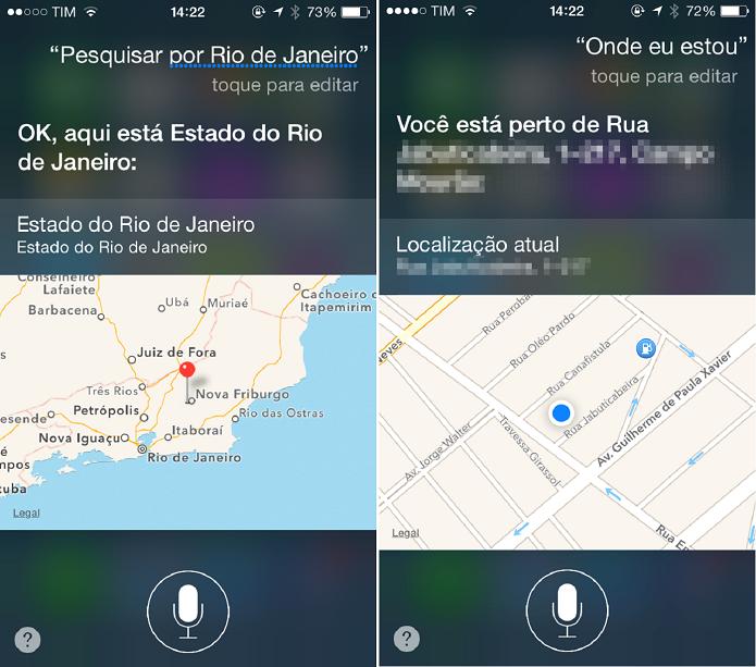 Se encontre usando a Siri (Foto: Felipe Alencar/TechTudo)