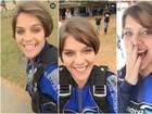 Isabella Santoni salta de paraquedas com Gabi Lopes