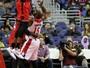 Lucas Bebê torce o tornozelo em derrota dos Raptors para os Wizards