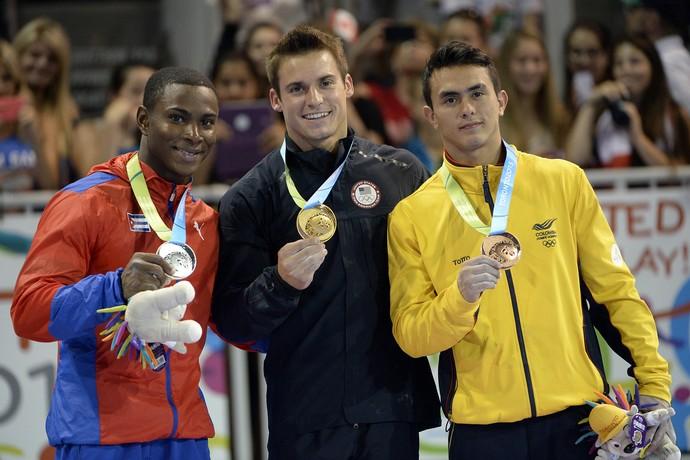 pódio; ginástica artística; jogos pan-americanos (Foto: Reuters)