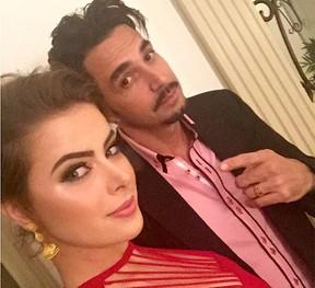 Rayanne Morais e Latino no final de 2015 (Foto: Reprodução/Instagram)